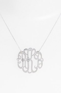 Argento Vivo - Personalized Large 3-Initial Letter Monogram Necklace