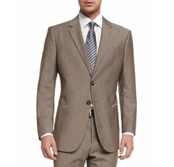 Giorgio Armani - Taylor Solid Sharkskin Two-Piece Wool Suit