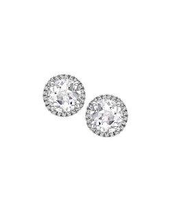 Kiki McDonough  - Grace White Topaz & Diamond Stud Earrings
