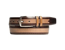 Mezlan - Mens New Multi-Tonal Belt, BROWN MULTI, 42