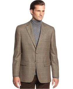 Club Room - Checks Two Button Sport Coat