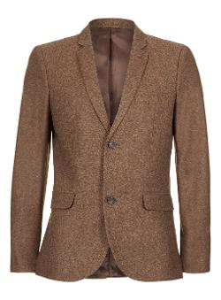 TOPMAN - BROWN TWIST DONEGAL BLAZER
