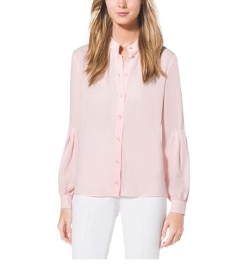 Michael Kors - Drop-Sleeve Silk-Georgette Shirt