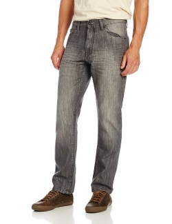 Southpole - Straight Fit Shiny Streaky in Gray Jeans