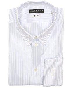 Dolce & Gabbana  - Bar Striped Cotton Blend