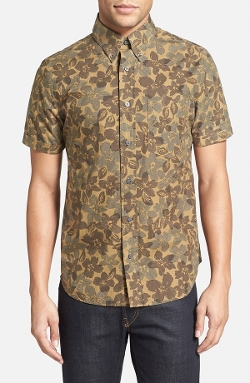Jack Spade - Trim Fit Floral Camo Print Sport Shirt