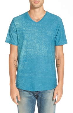 Nordstrom - The Rail Burnout V-Neck T-Shirt