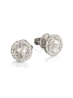 Kalan by Suzanne Kalan  - White Gold Round Stud Earrings