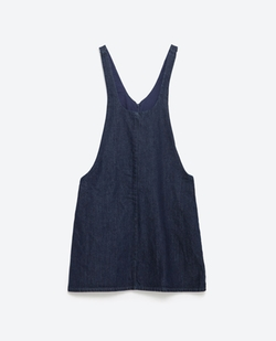 "Zara - ""Essentials"" Denim Pinafore Dress"