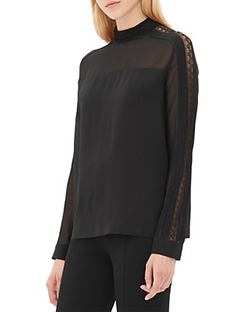 Sandro - Epsody Semi Sheer Top