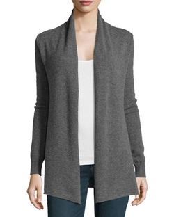 Neiman Marcus  - Cashmere Open-Front Cardigan