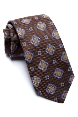 Robert Talbott - Medallion Mini Check Silk Tie