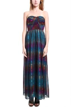 12th Street by Cynthia Vincent  - Shirred Corset Maxi Dress