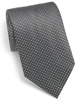 Brioni  - Diamond Optical Silk Tie