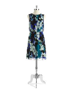 Adrianna Papell - Floral Print Blouson Dress