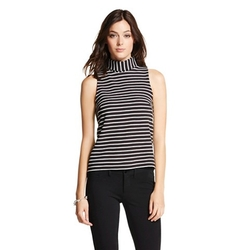 Target - Striped Turtleneck Tank Top