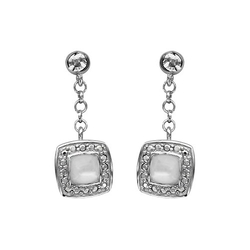 So Chic Jewels - Square Shape Dangle Earrings