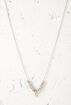 Forever 21 - Beaded Spike Charm Necklace
