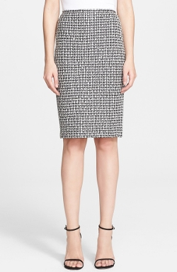 St. John Collection - Macro Tweed Pencil Skirt