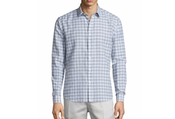 Theory  - Zack Check Long-Sleeve Sport Shirt