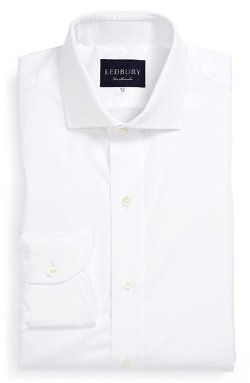 Ledbury  - Classic Fit Solid Poplin Dress Shirt