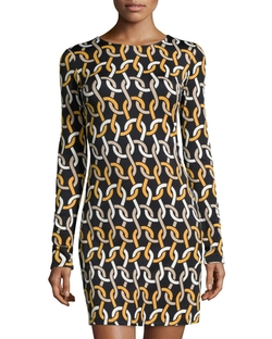 Julie Brown  - Morgan Printed Long-Sleeve Shift Dress