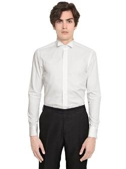 Canali  - Micro Striped Wing Tip Tuxedo Shirt