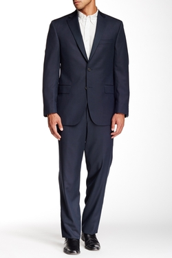 David Donahue  - Ryan Birdseye Two Button Notch Lapel Wool Suit