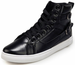 Dadawen - Sheet Metal Buckle High-Top Sneakers