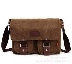 Tradestar LLC - Vintage Canvas School Messenger Bag Satchel