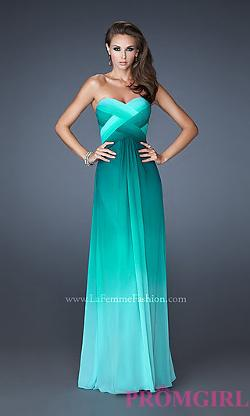 La Femme - Open Back Prom Dress