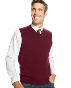 Club Room - Cashmere Solid Sweater Vest