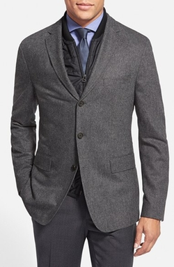 Boss Nelson  - Trim Fit Herringbone Wool Blend Sport Coat