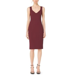 Michael Kors Collection - Bouclé-Crepe Sweetheart Sheath Dress