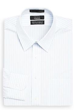Saks Fifth Avenue Black - Classic-Fit Stripe Dress Shirt
