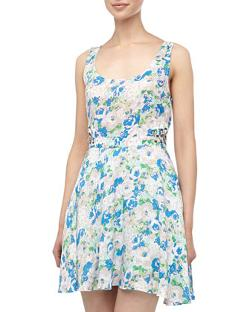 Lucca Couture  - Laced Floral Print Dress