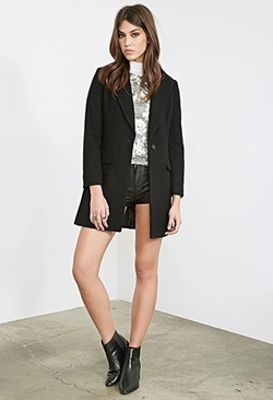 Forever 21 - Classic Wool-Blend Overcoat