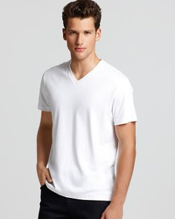 Michael Kors  - Short-Sleeve V-Neck Tee