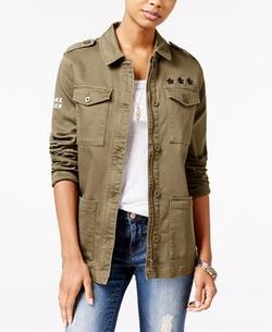 Jessica Simpson - Roll-Tab Military Jacket