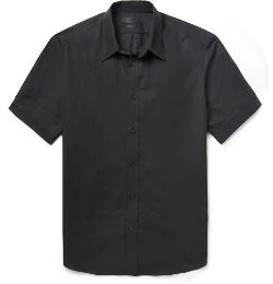 Alexander Mcqueen - Slim-Fit Short-Sleeved Cotton Shirt