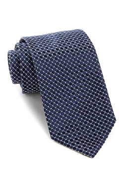 Hugo Boss - Diamond Pattern Silk Tie
