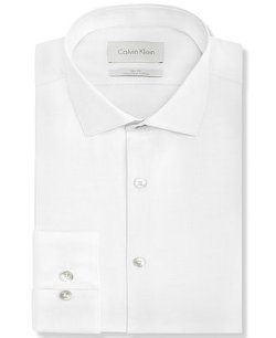 Calvin Klein - Platinum Slim-Fit Dress Shirt