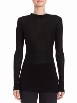DKNY  - Ribbed Mockneck Top