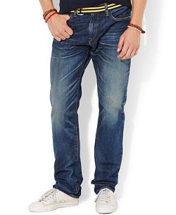 Polo Ralph Lauren - Varick Slim-Straight Rockford-Wash Jeans