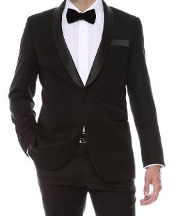 Ferrecci - Jacquard Shawl Collar Tuxedo Blazer
