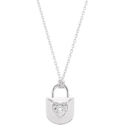 Clever Eve Inc. - Diamond Heart Lock Necklace