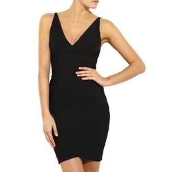 MissMay - Bandage Dress Deep V Neck Dress