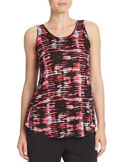 Kensie - Broken Stripe Tank Top