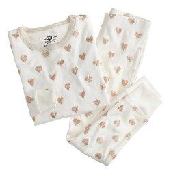 J. Crew - Glitter Heart Pajama Set