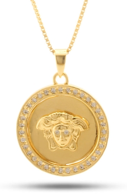 King Ice - Medusa Medallion Necklace